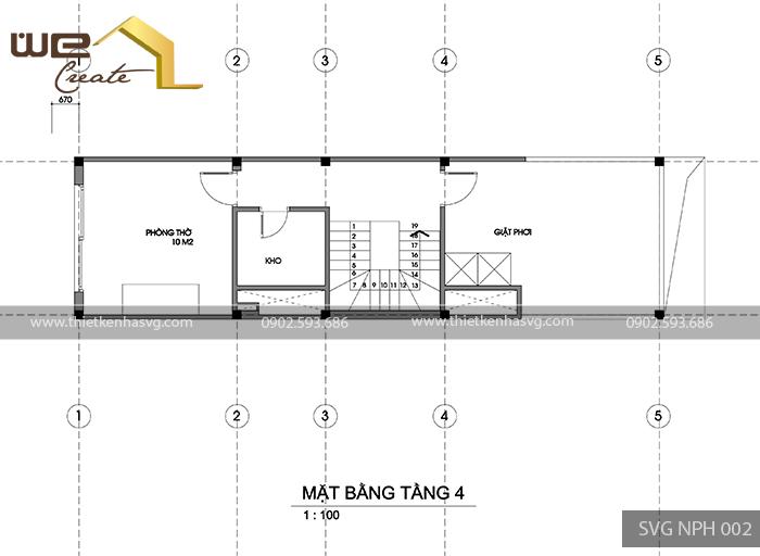Mat bang tang 4 nha pho hien dai Hai Phong