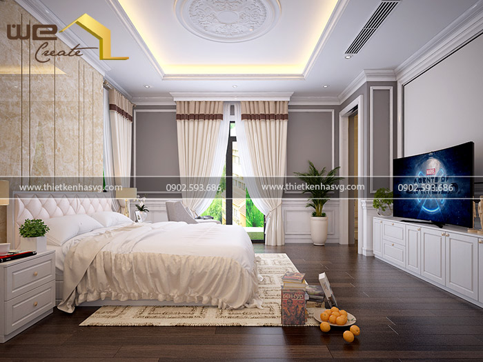 Mẫu nội thất phòng ngủ biệt thự đẹp