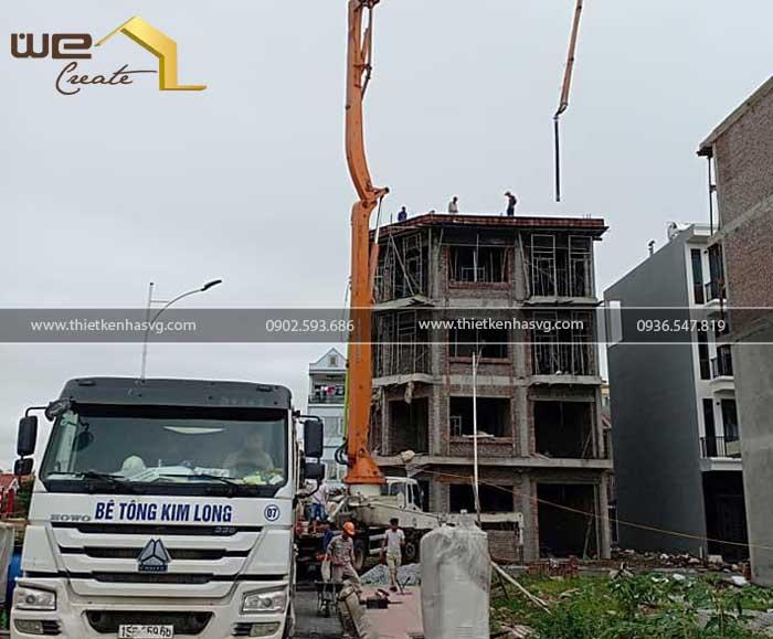 Xay nha 4 tang 2 mat tien pho di bo Tam Bac Hai Phong